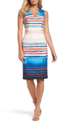 Women's Adrianna Papell Scuba Sheath Dress $120 thestylecure.com