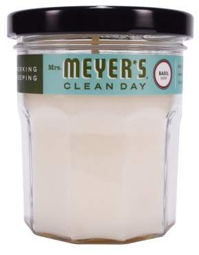 Mrs. Meyer's Clean Day Scented Soy Candle, Basil, 4.9 oz