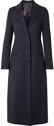 Joseph Archi Brushed Wool And Silk-blend Coat - Navy