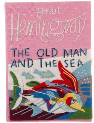 Olympia Le-Tan The Old Man and The Sea Embroidered Felt Clutch
