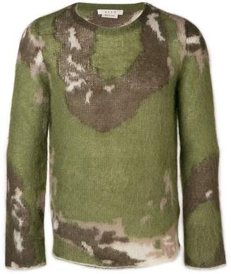 Alyx textured camouflage print sweater