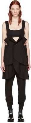 Yohji Yamamoto Black Button Down Camisole $1,650 thestylecure.com