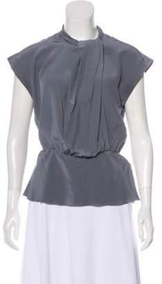 Trina Turk Short Sleeve Silk Top