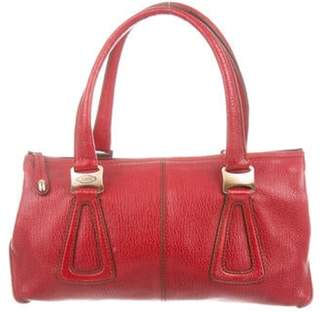 Tod's Pebbled Leather Tote Red Pebbled Leather Tote
