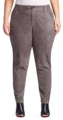 Lafayette 148 New York Lafayette 148 New York, Plus Size Mixed Media Wool-Blend Pants