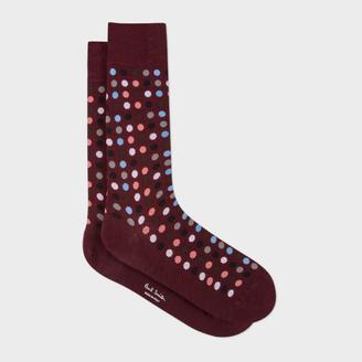 Men's Damson Confetti Spot Socks $30 thestylecure.com