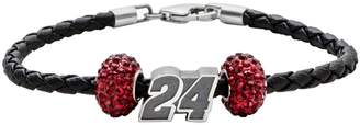 "Insignia Collection NASCAR Jeff Gordon Leather Bracelet & Sterling Silver ""24"" Bead Set"