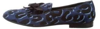 Louis Vuitton Satin Animal Print Loafers