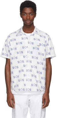 Noah NYC White Short Sleeve SOS Shirt