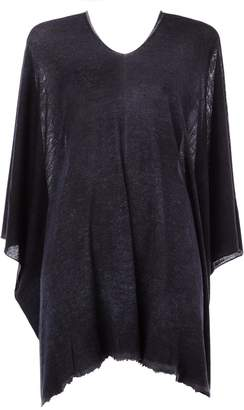 Avant Toi bat sleeve top