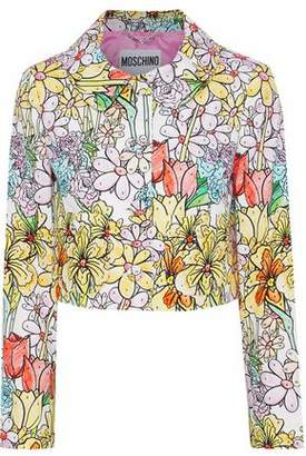 Moschino Printed Cotton-Blend Piqué Jacket