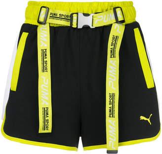 Puma belted strap waist shorts