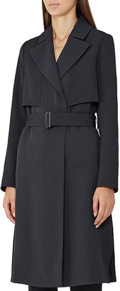 REISS Lina Long Fluid Trench Coat $495 thestylecure.com
