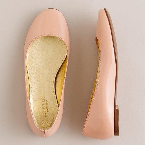 Girls' patent-leather basic ballet flats