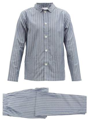 Nufferton - Uno Mini Stripe Cotton Pyjamas - Mens - Blue Multi