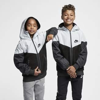 Nike Sportswear Windrunner Big Kids' Sherpa Jacket