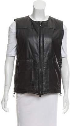 Reed Krakoff Leather Zip-Up Vest