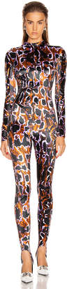 Thierry Mugler Animal Jumpsuit in Brown & Lilac | FWRD