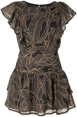 SUBOO ruffled mini dress