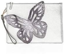 Sophia Webster Flossy Glitter Butterfly Pouchette
