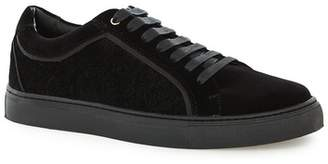 Topman Mens Black Velvet Lace Up Shoes