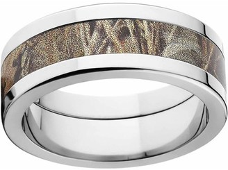 Realtree Max 4 Men's Camo 8mm Stainless Steel Wedding Band