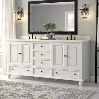 "Gracie Oaks Samoset 72"" Bathroom Vanity Base Only Base"