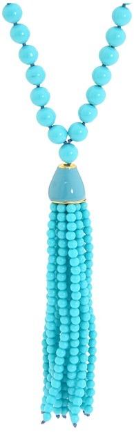 Kenneth Jay Lane - Fringe Necklace (Turquoise) - Jewelry