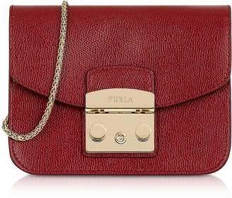 Furla Cherry Leather Metropolis Mini Crossbody Bag
