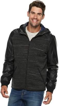 Urban Republic Men's Melange Faux-Leather Jacket
