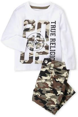 True Religion Infant Boys) Two-Piece Graphic Tee & Camo Jeans Set