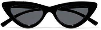 Le Specs Adam Selman The Last Lolita Cat-eye Acetate Sunglasses - Black