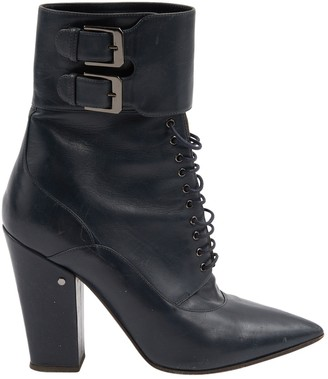 027bde888cdd Laurence Dacade Navy Leather Ankle boots
