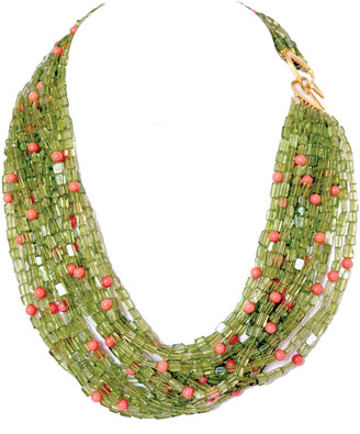 Arthur Marder Fine Jewelry Gold Over Silver Gemstone Layered Necklace