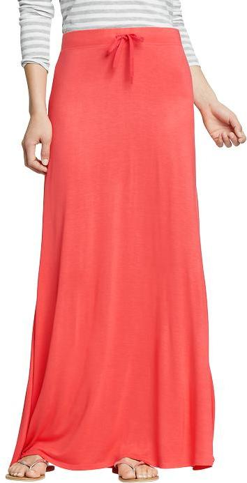 Old Navy Women's Drawstring Jersey-Maxi Skirts