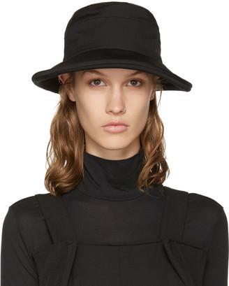 Yohji Yamamoto Black Slouchy Hat $540 thestylecure.com