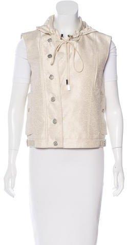 Christian Dior Christian Dior Metallic Silk-Blend Vest
