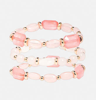 Avenue Pale Pink Bead Bracelet Set