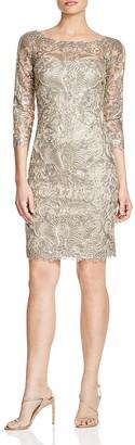 Tadashi Shoji Three-Quarter Sleeve Lace Dress $428 thestylecure.com