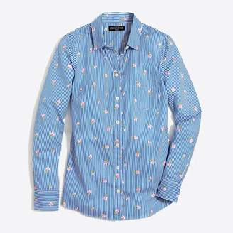f5ad955ea3d84 Showing 12 Women s Plus Sizes filtered to 1 brand. at J.Crew Factory · J. Crew Factory Classic button-down shirt in printed cotton