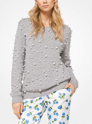 Michael Kors Pearl Embroidered Cashmere Sweatshirt
