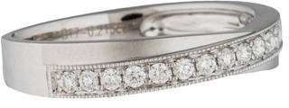 Ring 18K Diamond Crossover Band
