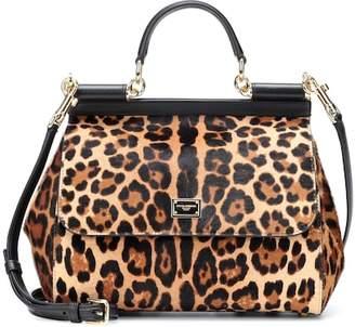 Dolce & Gabbana Sicily calf hair shoulder bag