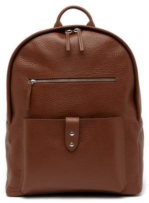 Cole Haan Saunders Leather Zip Top Backpack