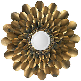 "Jamie Young Bouquet 36"" Wall Mirror - Antiqued Brass"