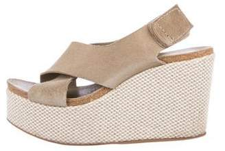 Pedro Garcia Crossover Wedge Sandals