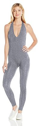 American Apparel Women's Cotton Spandex Halter Catsuit $38 thestylecure.com