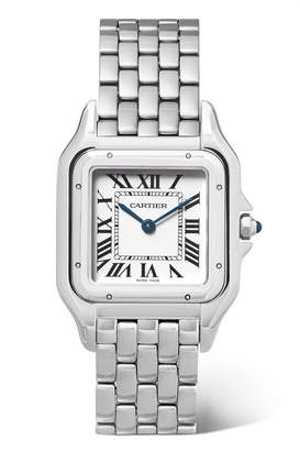 Cartier Panthère De 27mm Medium Stainless Steel Watch - Silver