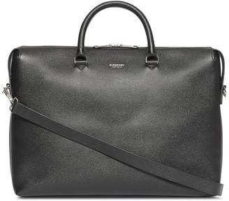 Triple Stud Grainy Leather Briefcase