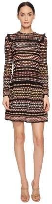 M Missoni Lurex Lace Long Sleeve Dress Women's Dress